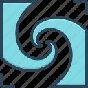 frit, harmonize, integrate, meld, mix, modulate, unite icon
