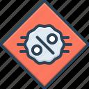 discount, economy, percent, sale, sign icon