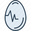 breakfast, egg, food, ingredient, oval, testicle icon