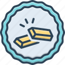 gold, light, material, metallic, shiny, yellow icon