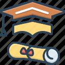 bachelor, degree, education, graduate, graduation, learning, teaching icon