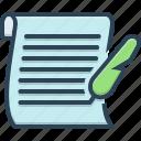 letter, manuscript, messages, scenarios, script, text, tidings