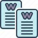 calligraphy, document, paper, script, word, words icon