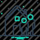 accommodation, habitation, home, house, ours, residence, we