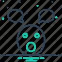 emoji, foolish, parakeet, silly, stupid, unwise icon