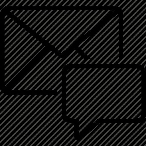 communication, dialog, envelope, inbox, message, news, reminder icon