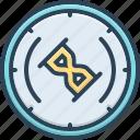 delay, download, hourglass, progress, timer, unaccomplished, wait icon