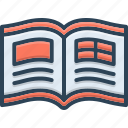 reading, magazine, mag, read, journal, booklet, newspaper icon