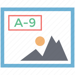 a to 9, album, landscape, landscape a 9, painting, photo, photograph icon
