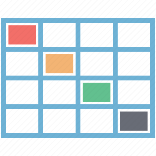 cloze, color, fill the answer, fill the box, format, matrix, paint icon