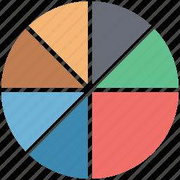 analytics, circle chart, diagram, info graph, pie chart, pie graph, report icon