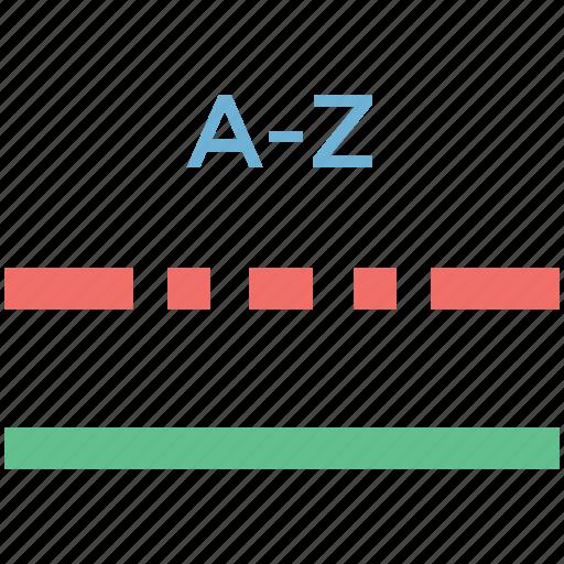 a to z, alphabetical, line, line a z, sorting a z icon