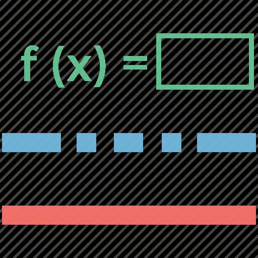 algebra, evaluation functions, math formula, math function, math question, mathematics icon