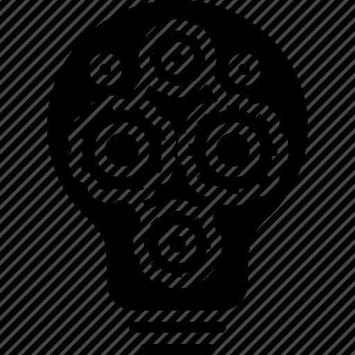 coefficient, cogwheel, component, decomposing, factor, gear, setting icon