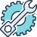 conservancy, maintenance, preservation, protection, setting, technical, wrench icon