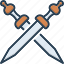 battle, fight, fighting, struggle, sword, war, weapon icon