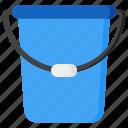 bucket, water, container