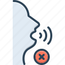 dumb, gesture, noiselessly, quietly, silent, silently, soundless icon