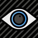 eye, view, find, look, vision