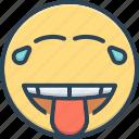 banter, emoji, jest, joke, laugh, mockery, snickers