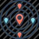 adjacent, close, location, navigation, near, nearby, neighboring icon