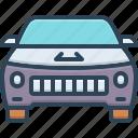 automobile, car, cabriolet, carriage, vehicle, transportation, conveyance icon