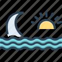 backwash, nature, ripple, stream, sun, surf, wave