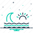 backwash, flowing, ripple, stream, surf, water wave, wave icon