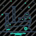 boat, cargo, marine, ship, transport, travel, vessel icon