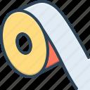 dimension, inch, measurement, measuring tape, reflective tape, ruler, yardage icon