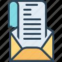 document, envelope, epistle, leaf, letter, mail, sheet
