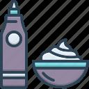 cream, dessert, gravy, ketchup, relish, sauce, sour icon