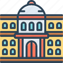 education, college, university, institute, architecture, students, governmental icon