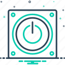 discontinued, electric, electrical, energy, off, power icon