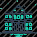 architecture, college, education, governmental, institute, students, university icon