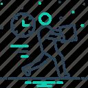 brisk, expedite, hasty, hurried, immediate, rapid, speedy icon