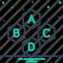 alphabet, base, basic, essential, fundamental, necessary, underlying icon
