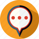 bubble, chat, conversation, popup, sms, speach icon