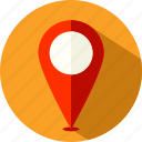 gps, location, marker, navigation, pin, placeholder, pointer icon