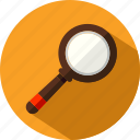 glass, magnifier, magnifying, search, searching, tool icon