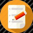 file, list, note, paper, school, study, todo icon
