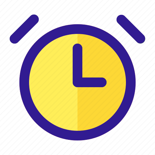 alarm, alert, bell, clock, time icon