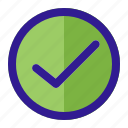approved, checked, document, tick, verified icon