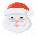 christmas, holiday, santa, santa claus icon icon