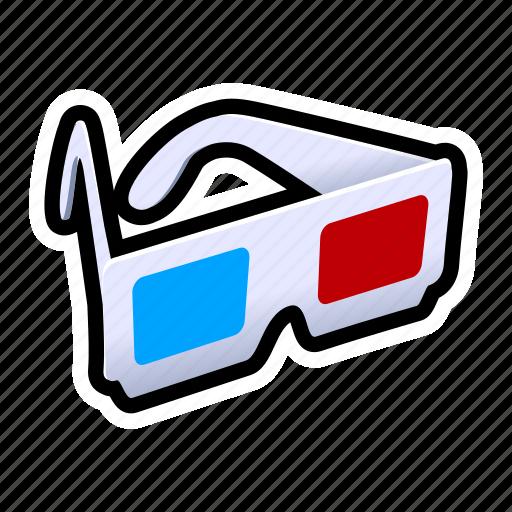 dimension, glasses, third icon
