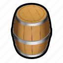 barrel, ship, storage, whine icon
