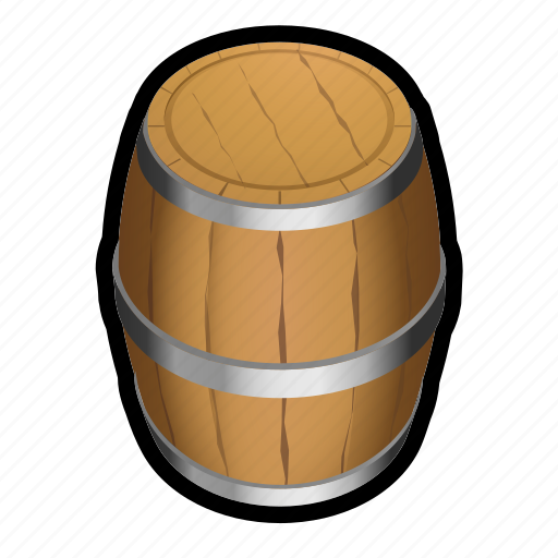 barrel, ship, storage, whine icon