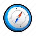 clock, compass, direction, east, north, south, west icon