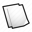 duplicate, file, paper icon