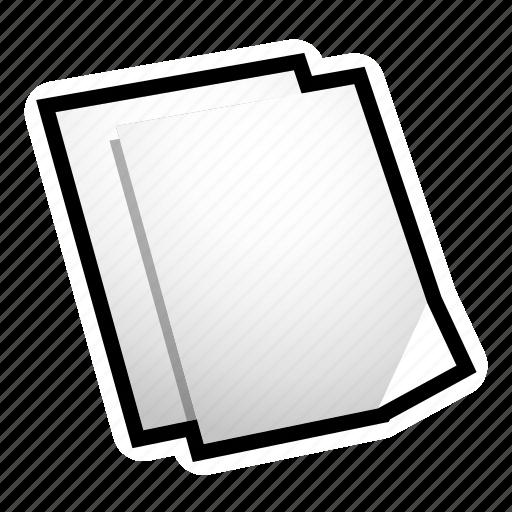 duplicate, file, paper icon